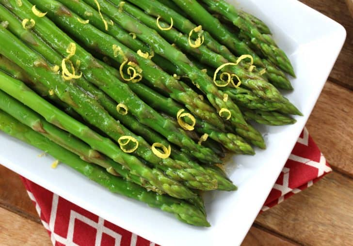 chilled asparagus salad with lemon dijon vinaigrette