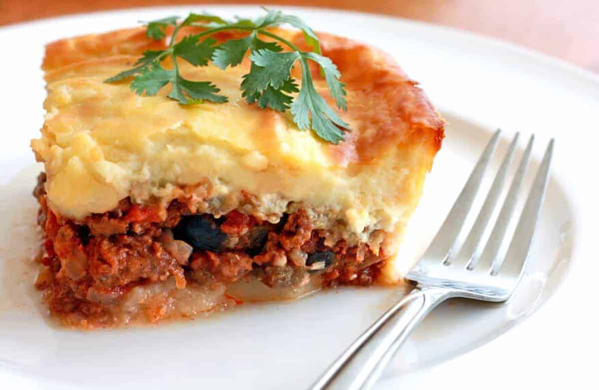 moussaka recipe best authentic traditional Greek beef