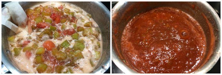 strawberry rhubarb jam recipe low sugar no pectin