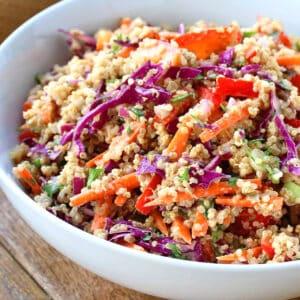 thai quinoa salad recipe vegetarian vegan gluten free