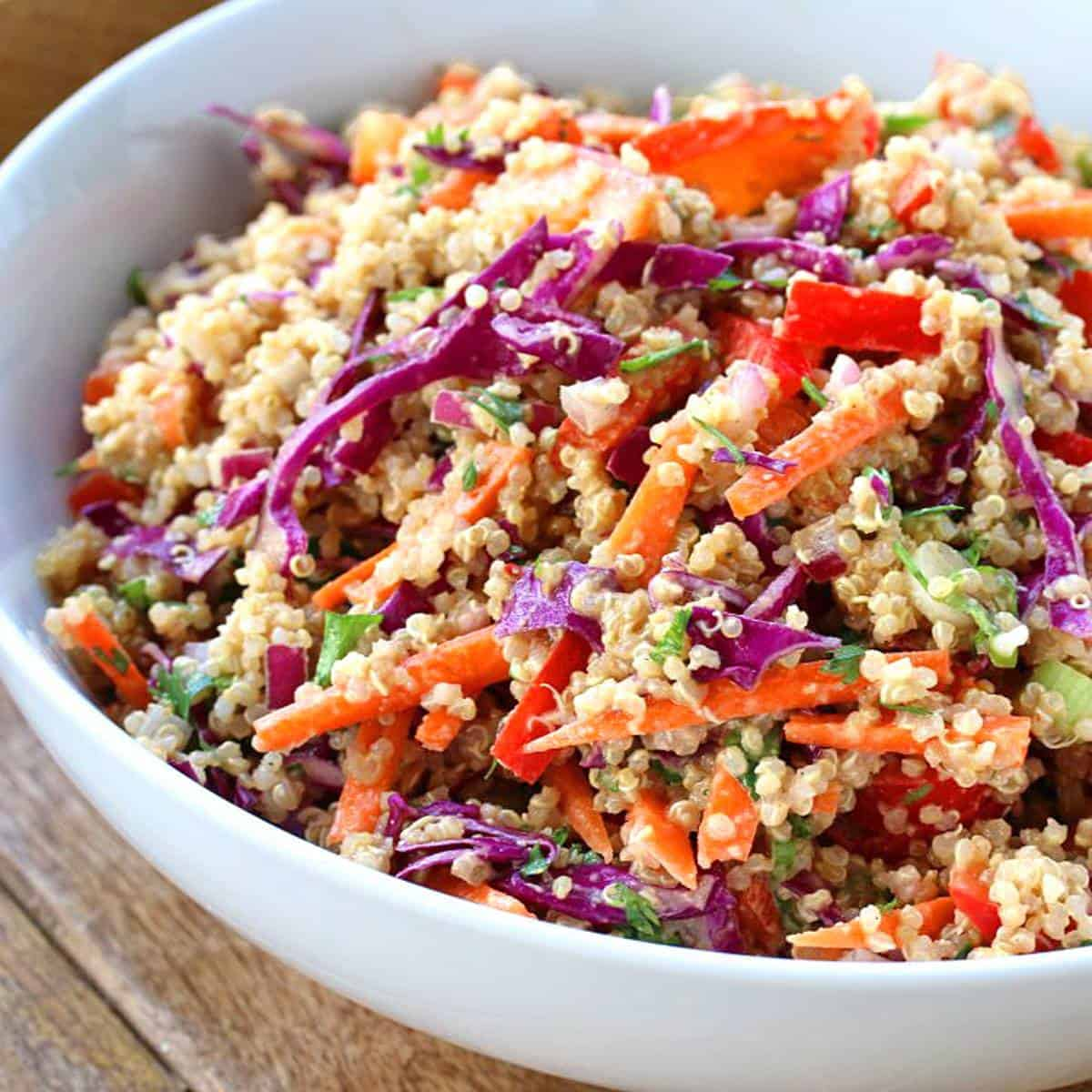 Thai Quinoa Salad The Daring Gourmet