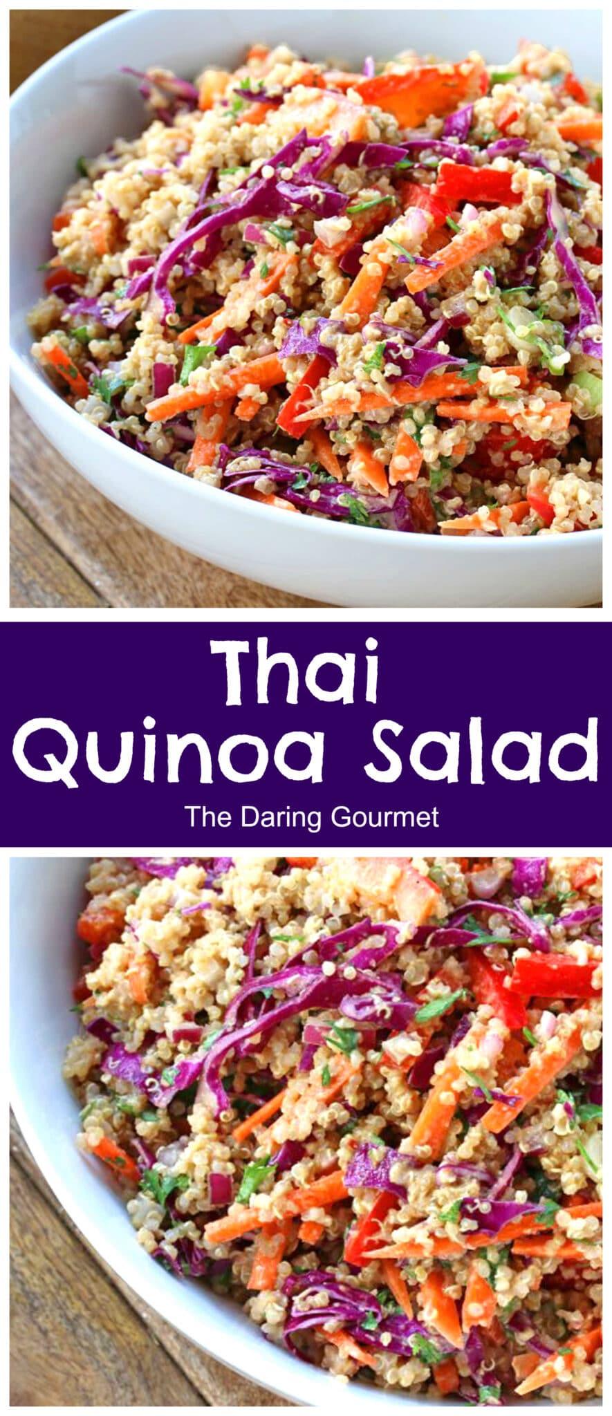 thai quinoa salad recipe peanut sauce dressing vegetarian vegan gluten free