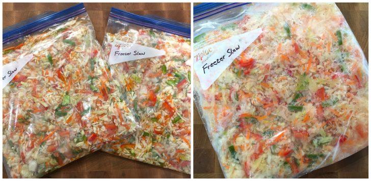 freezer slaw coleslaw recipe cider vinegar sugar peppers