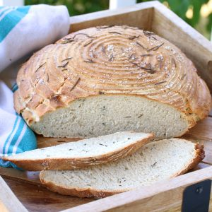 Rustic Rosemary Sourdough Bread