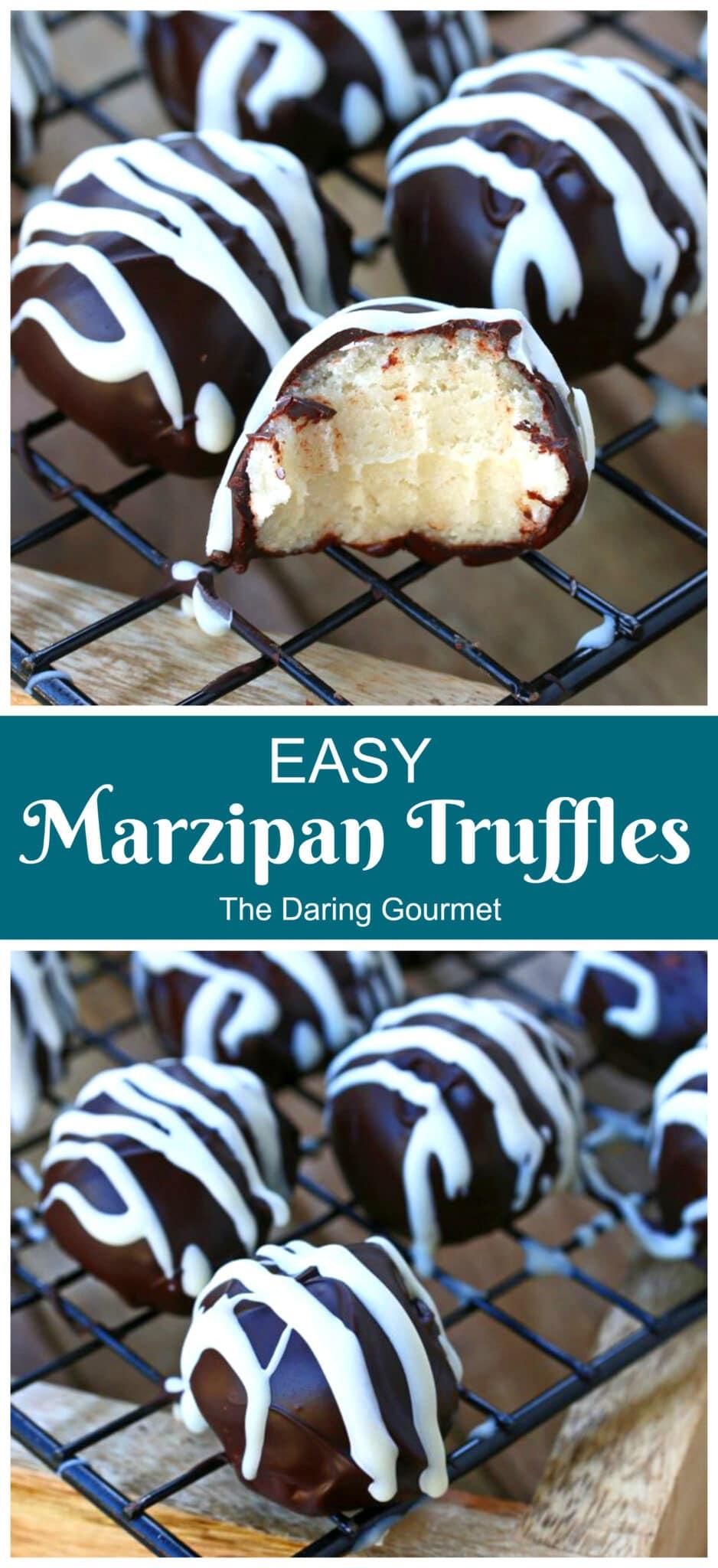 marzipan truffles recipe chocolate easy