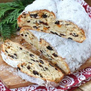 stollen recipe authentic german traditional christmas bread baking dried fruit marzipan dresden