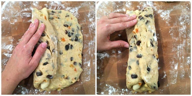 stollen recipe folding dough