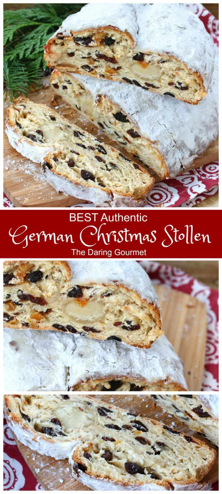 stollen recipe german bread cake christmas authentic traditional christstollen