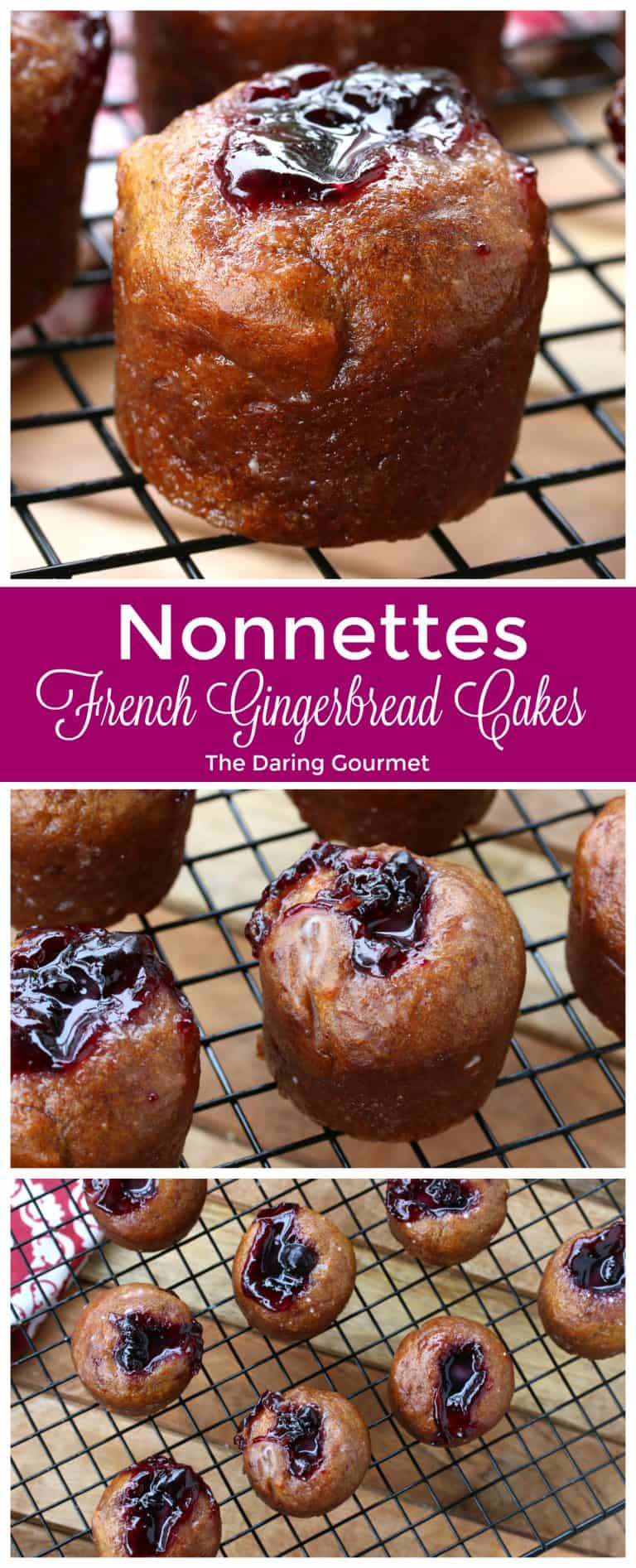 nonnettes french gingerbread cakes