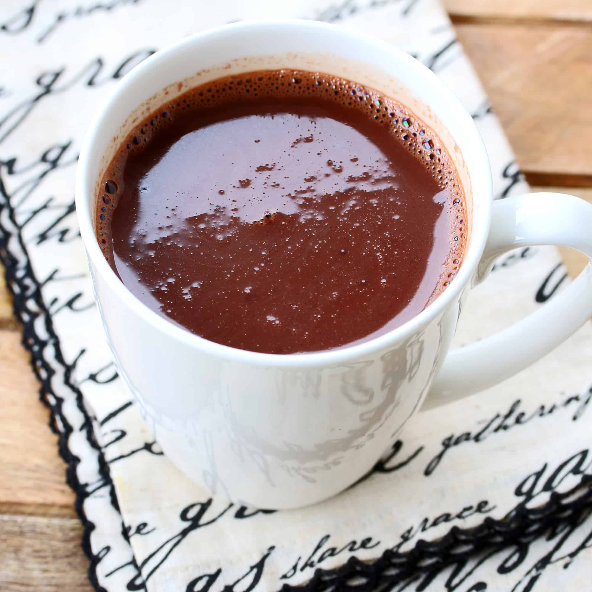 french parisian hot chocolate recipe european authentic dark bittersweet low sugar
