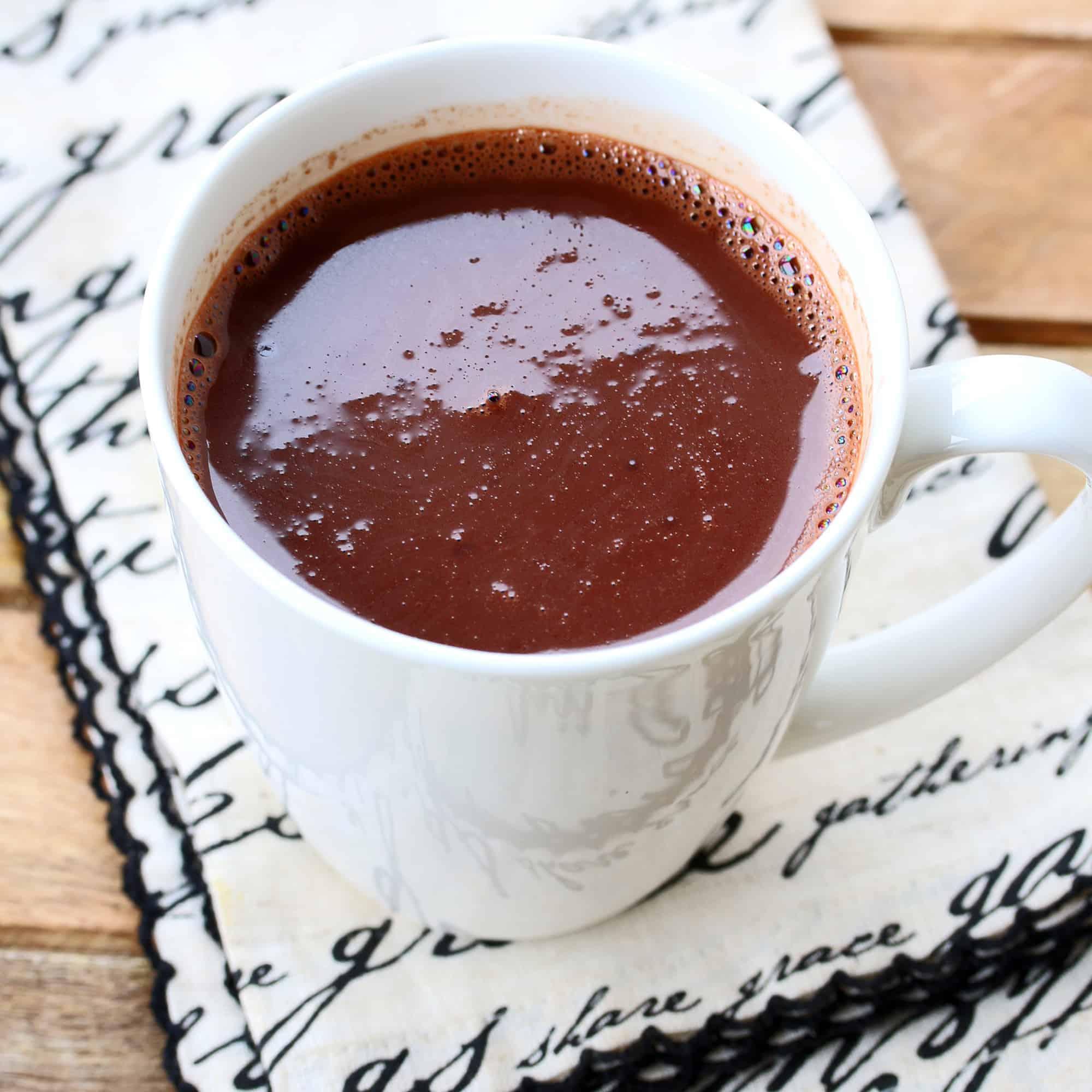 french parisian hot chocolate recipe european authentic dark bittersweet low sugar