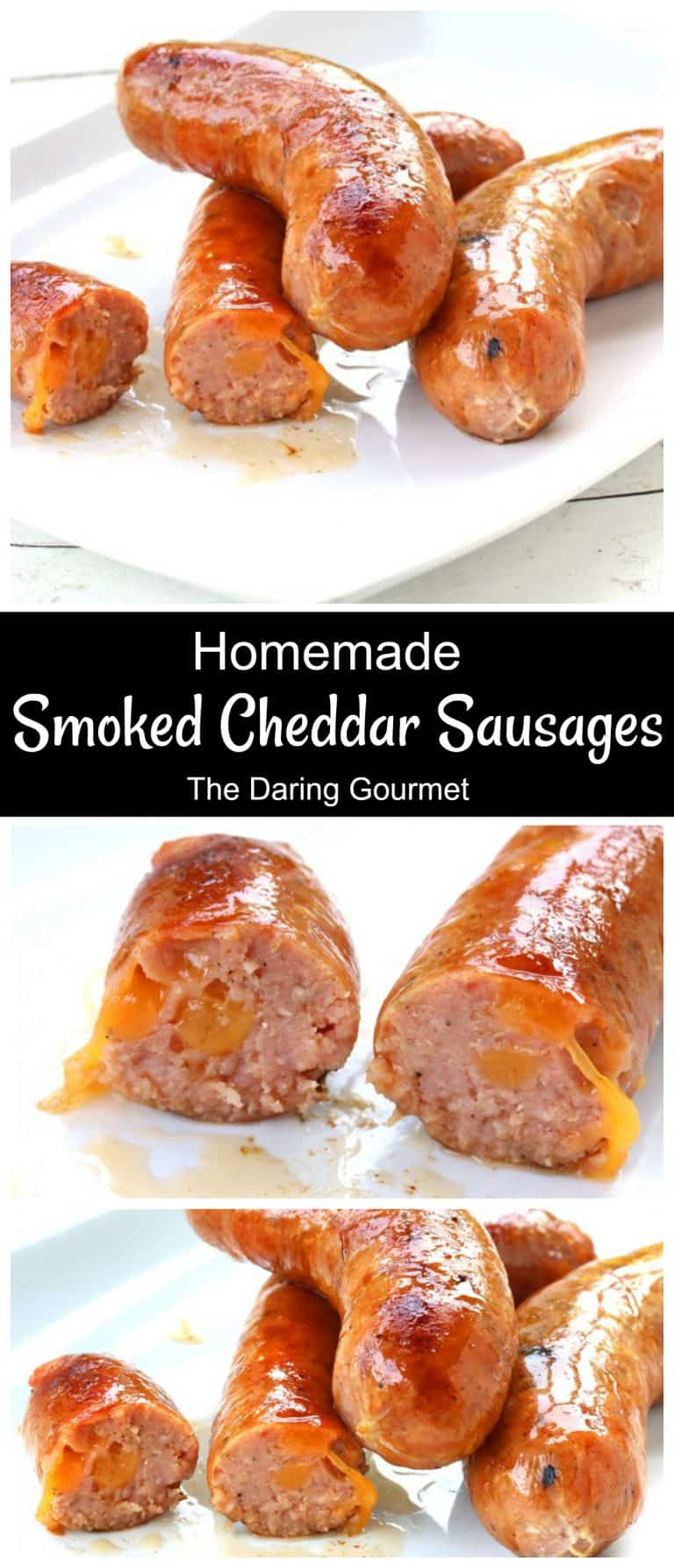 smoked cheddar sausages recipe homemade cheddarwurst copycat