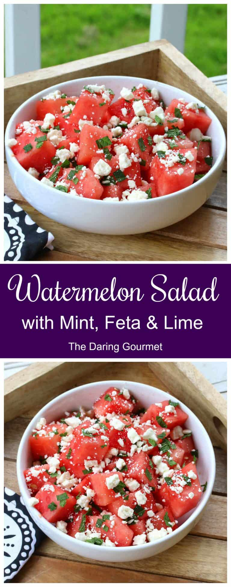 watermelon salad recipe mint feta lime juice