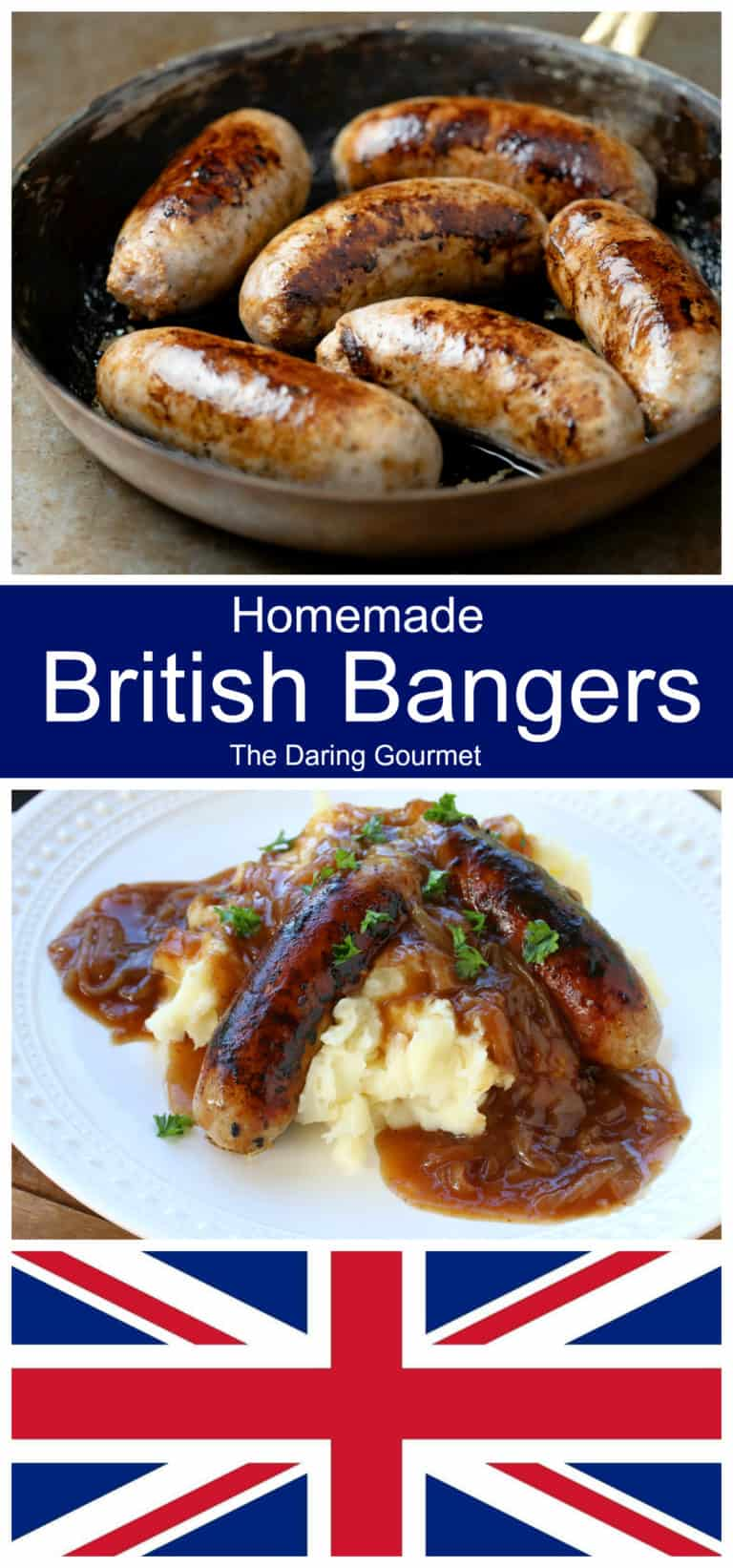 bangers recipe British sausages homemade traditional authentic