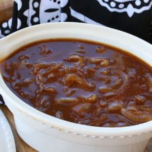 onion gravy recipe best homemade from scratch British English bangers and mash
