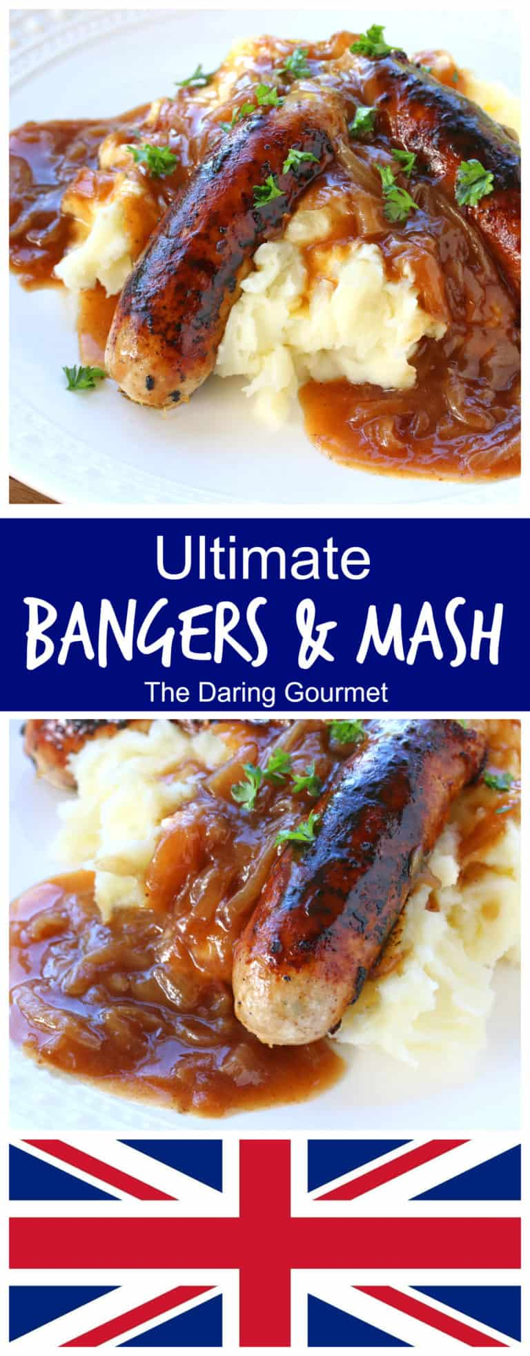 bangers and mash recipe best how to make homemade sausages onion gravy authentic traditional