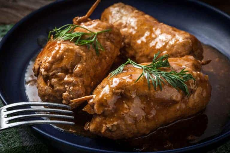 rouladen recipe homemade how to make German authentic traditional beef roulades roll ups
