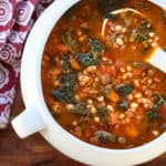 white bean sausage soup recipe Tuscan kale