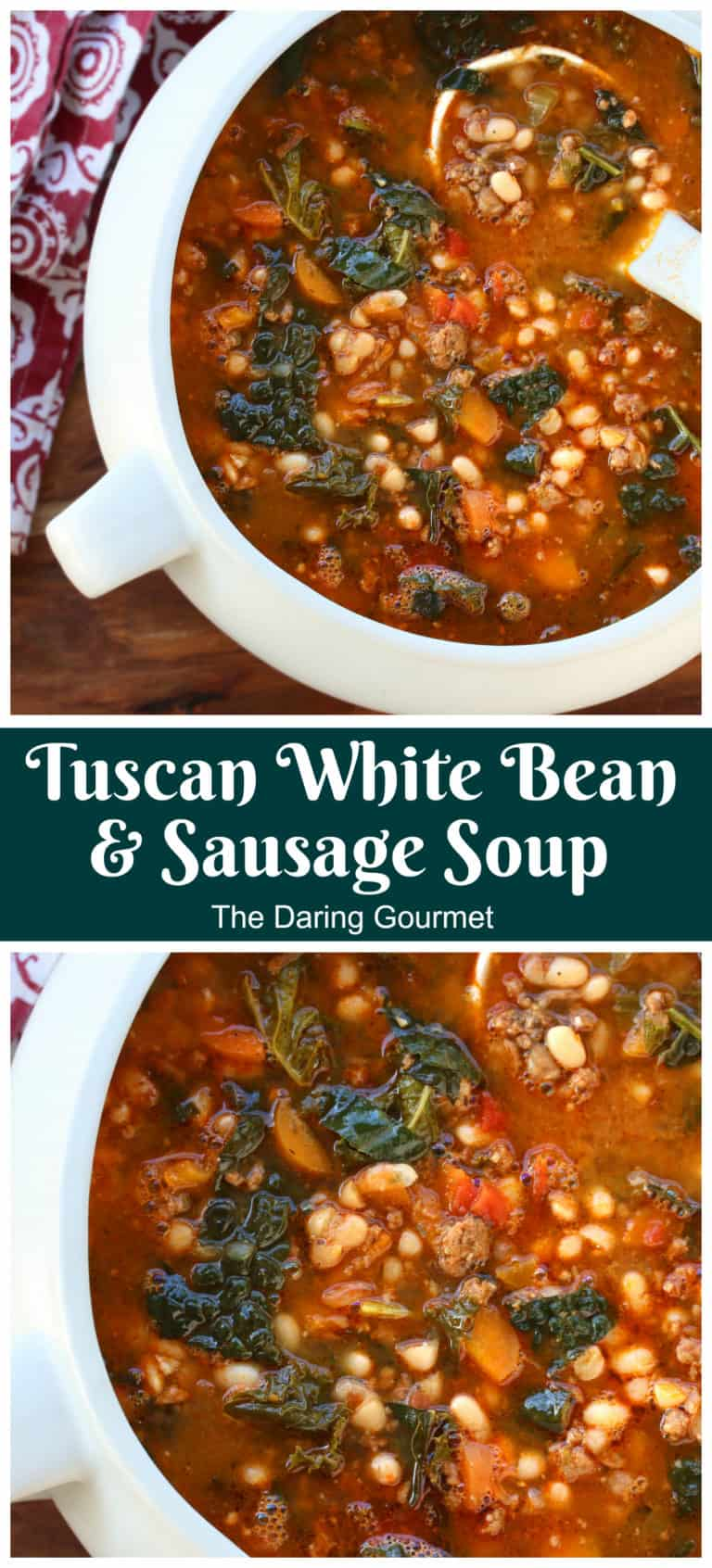 white bean and sausage soup recipe tuscan italian kale