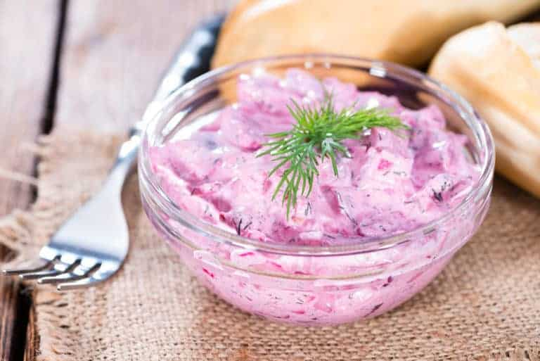 herring salad recipe roter heringssalat red beets apples dill German Danish Swedish Norwegian Finnish Polish authentic traditional