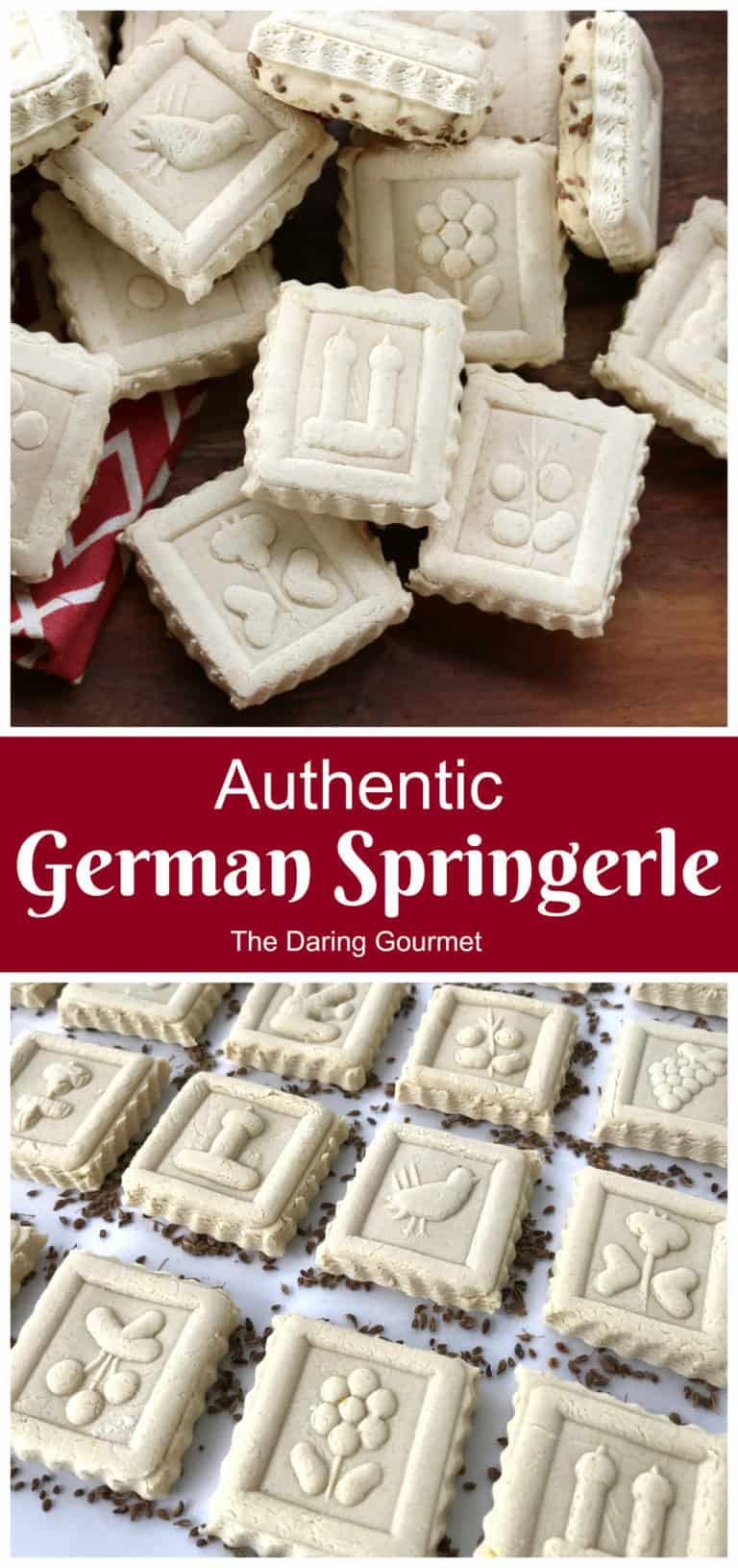 springerle recipe traditional authentic German anise cookies