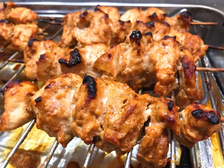 grilling chicken for chicken tikka masala