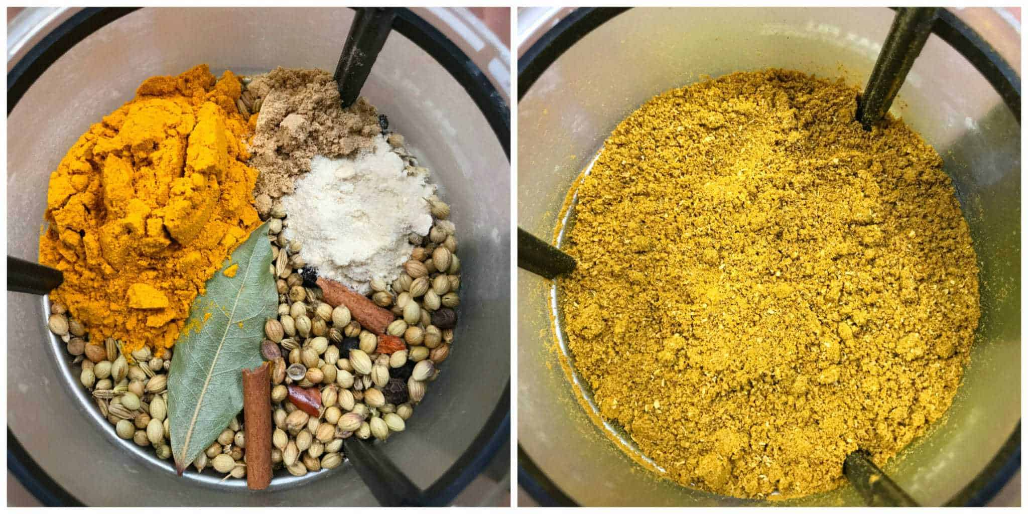 grinding Indian spices