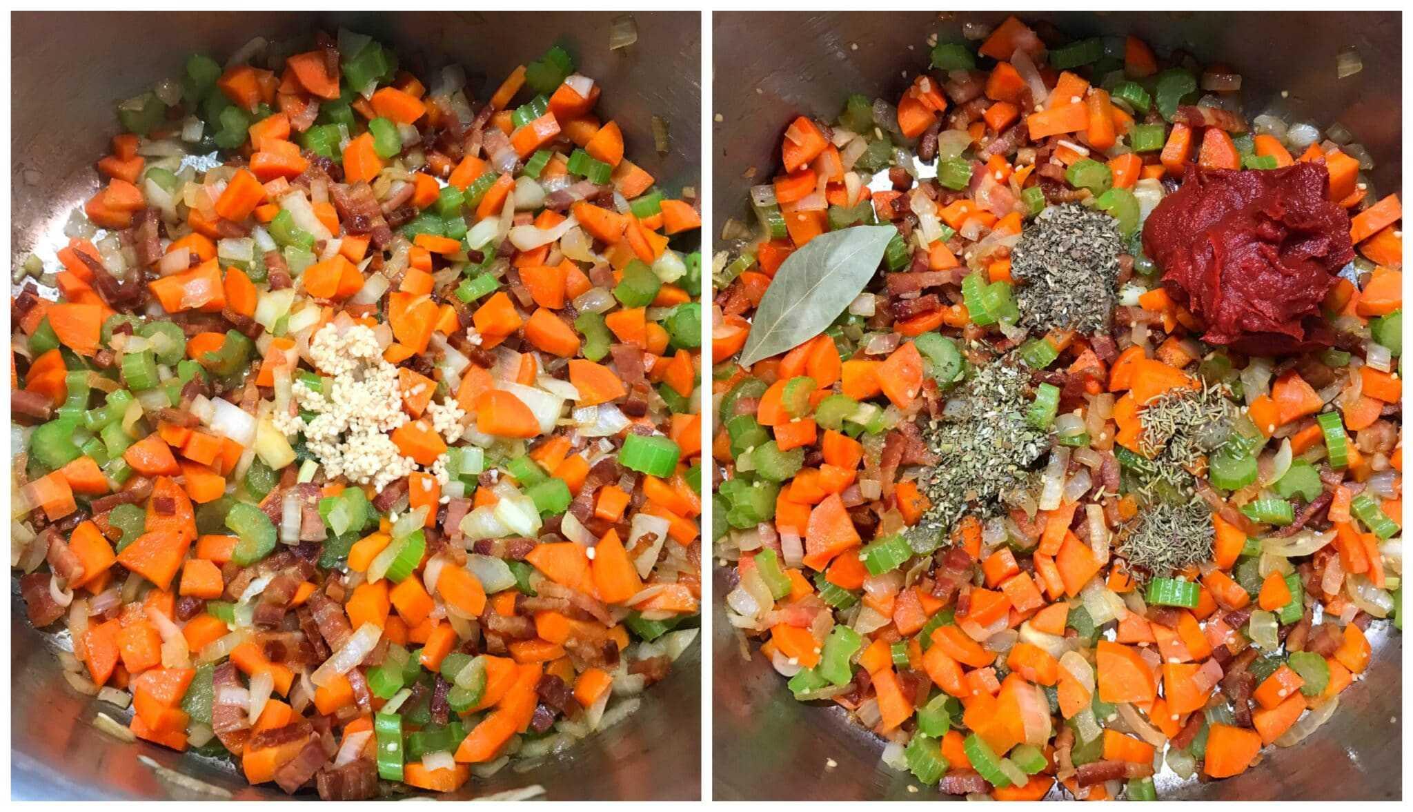 add garlic and herbs