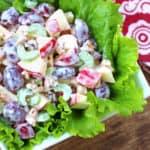 waldorf salad recipe best classic grapes apples walnuts celery mayonnaise