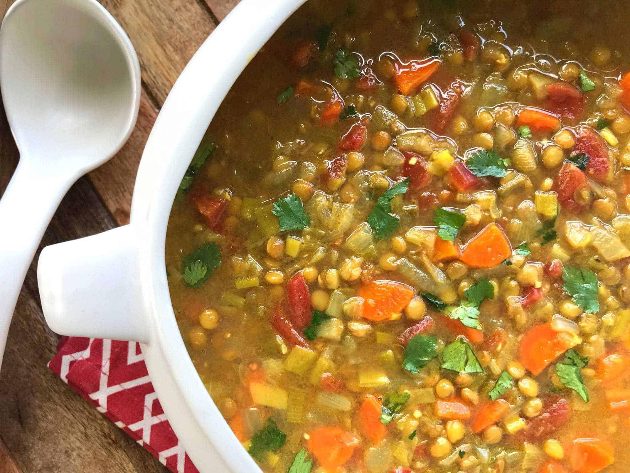 curried lentil soup recipe best healthy vegetarian vegan gluten free