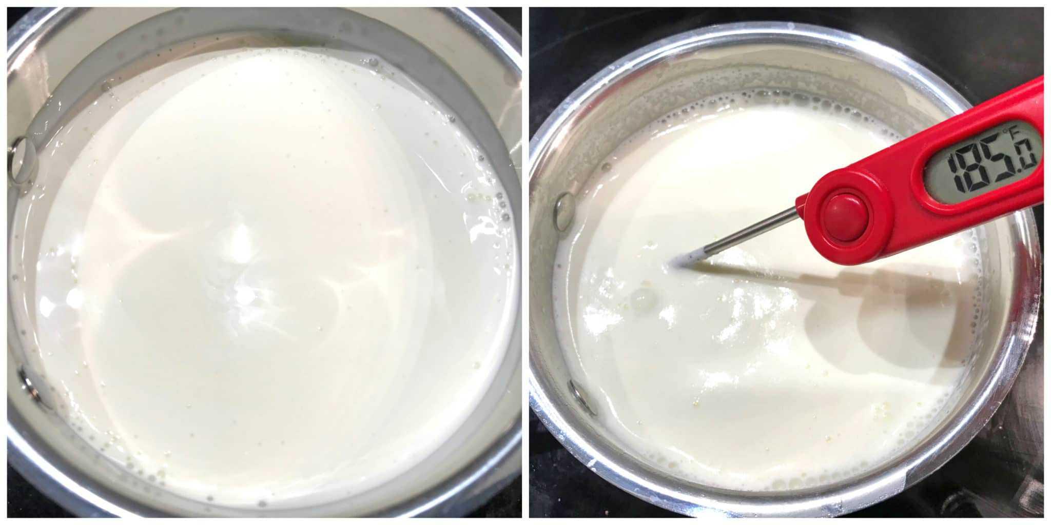 heating whipping cream