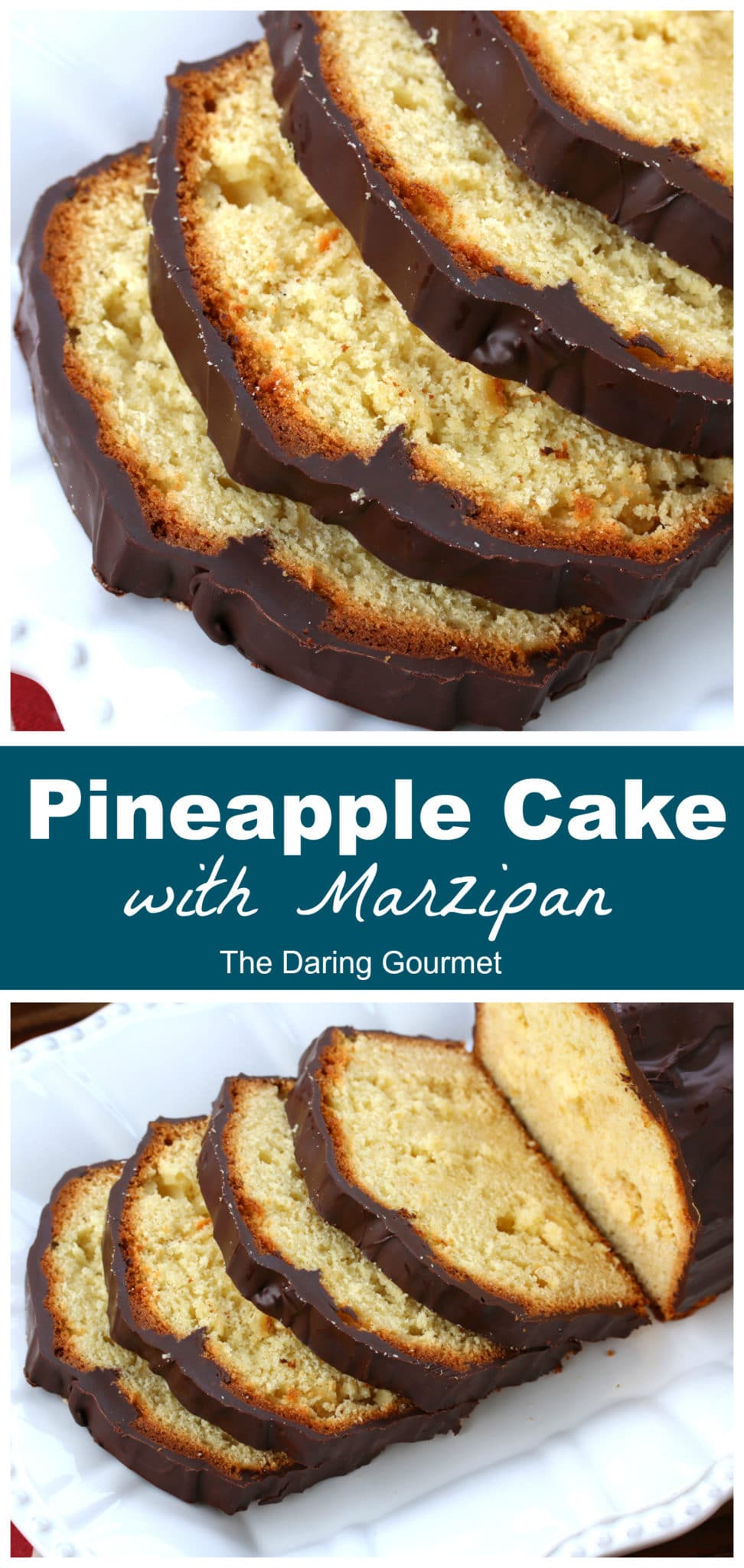 pineapple cake recipe chocolate marzipan almond paste