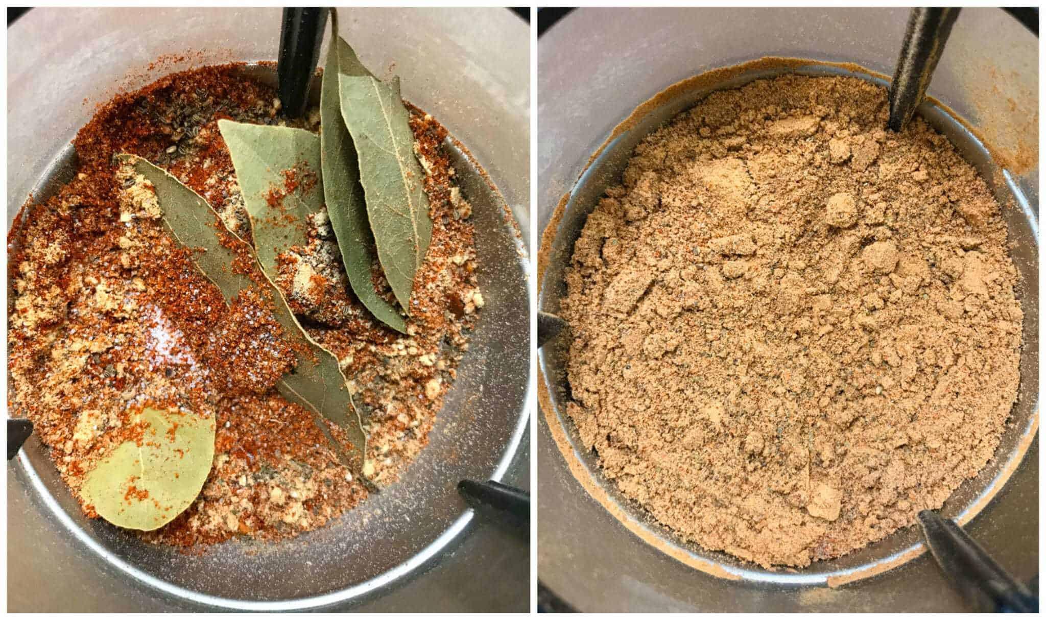 grinding ingredients to powder