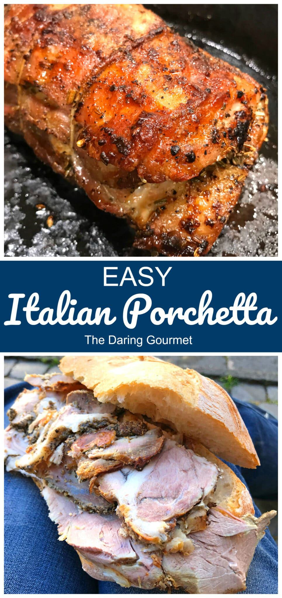 porchetta recipe easy pork roast seasoned fennel herbs sandwiches