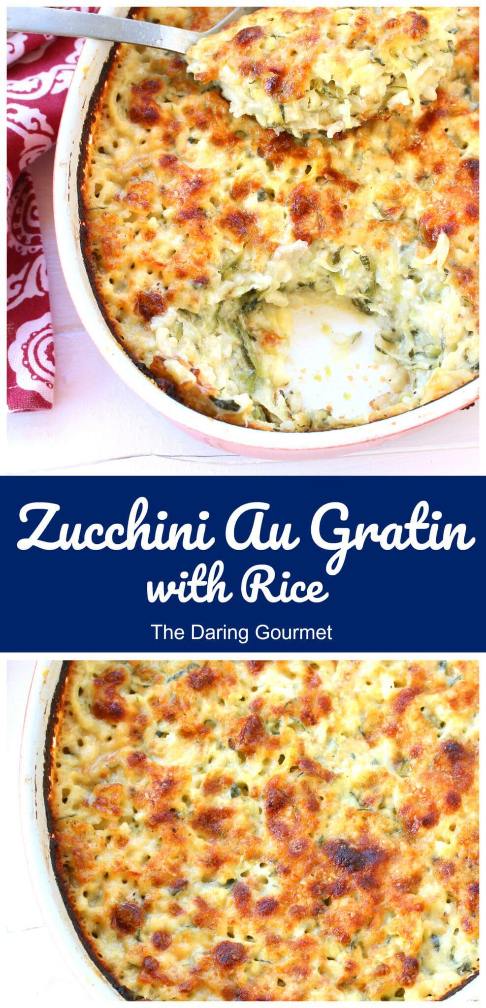 zucchini au gratin recipe french tian cheese rice courgette julia child