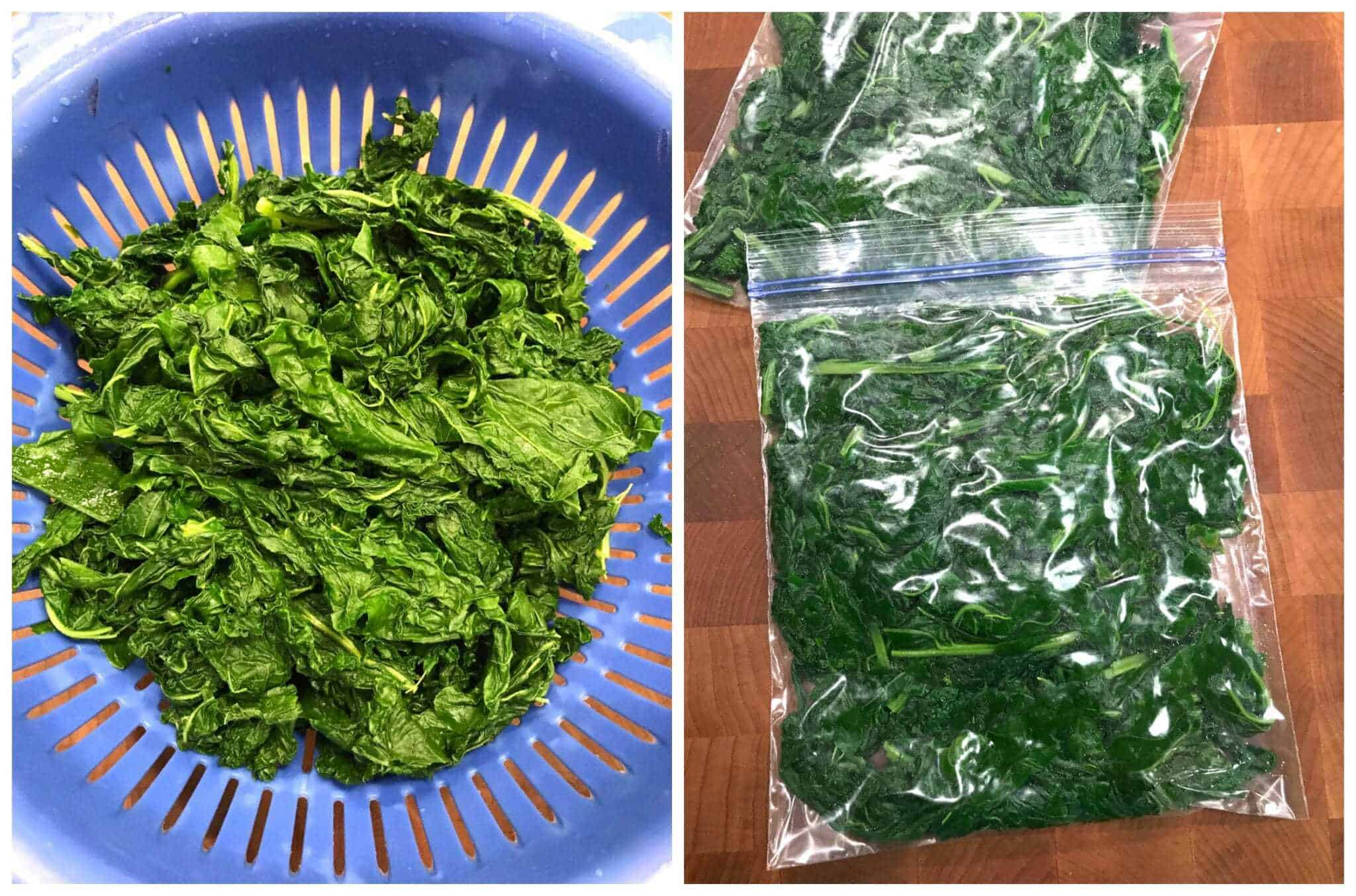 freezing kale how to freeze kale leafy greens spinach collard greens preserving