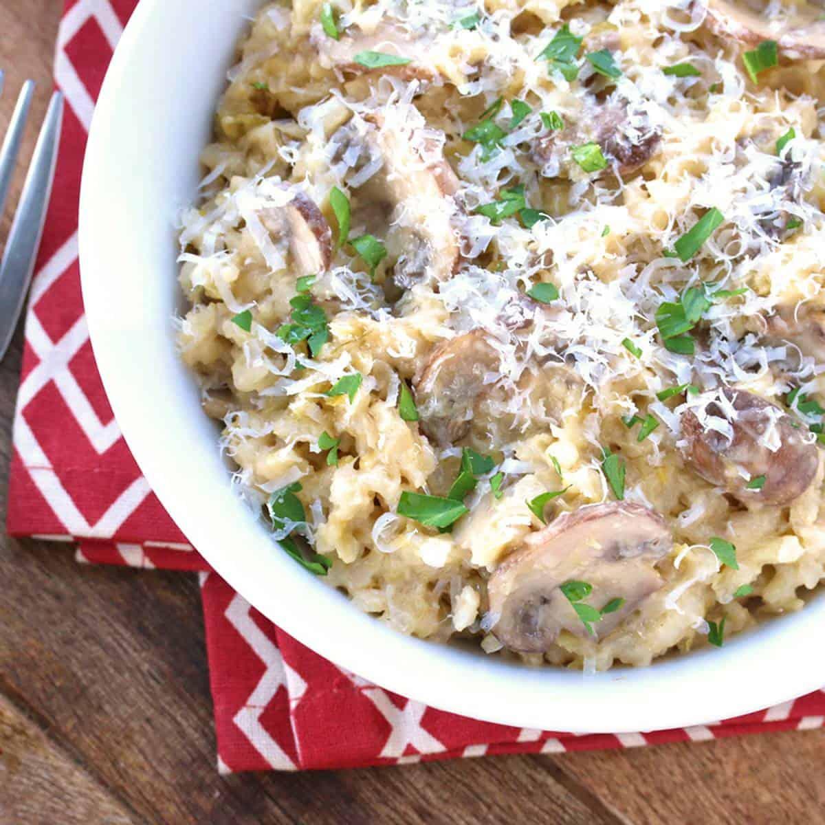 Mushroom Risotto The Daring Gourmet