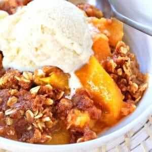 peach crisp recipe best slow cooker crock pot oven