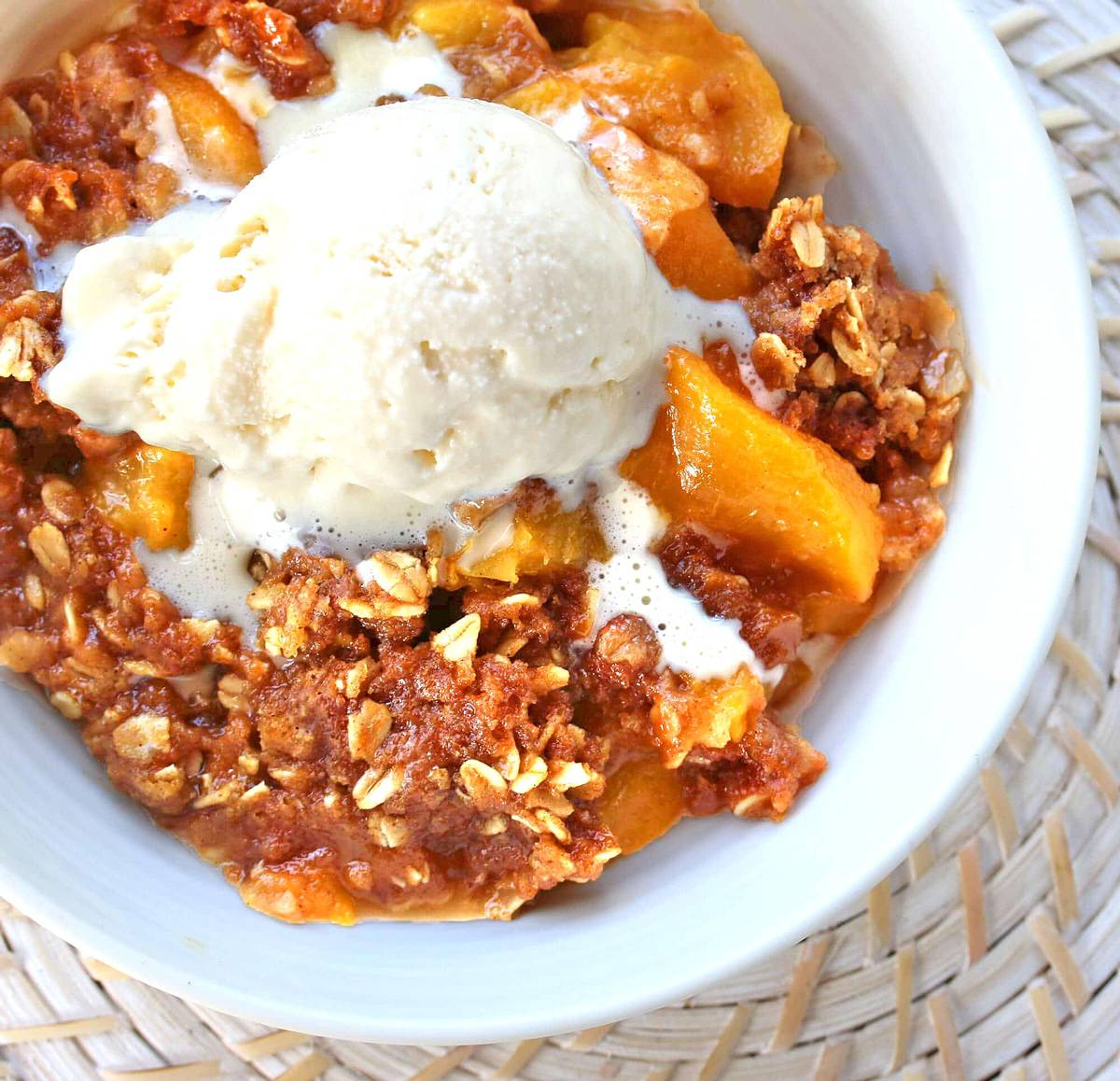 peach crisp recipe best slow cooker crock pot oven