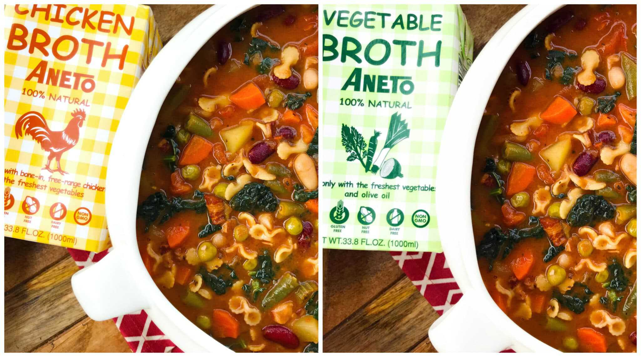 minestrone soup recipe traditional italian vegetables pasta beans potatoes vegetarian vegan gluten free aneto broth traditional authentic