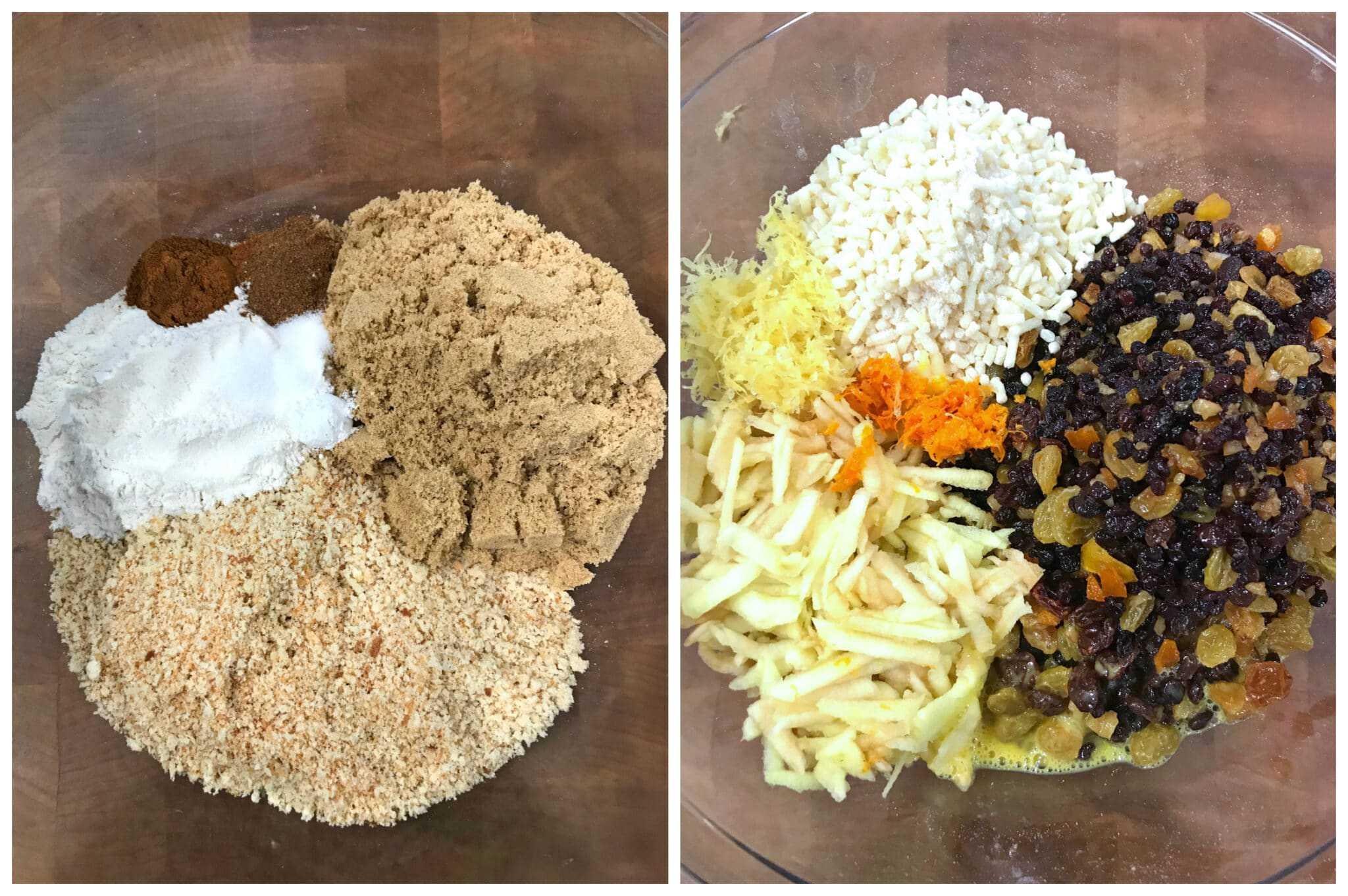 combine dry and wet ingredients