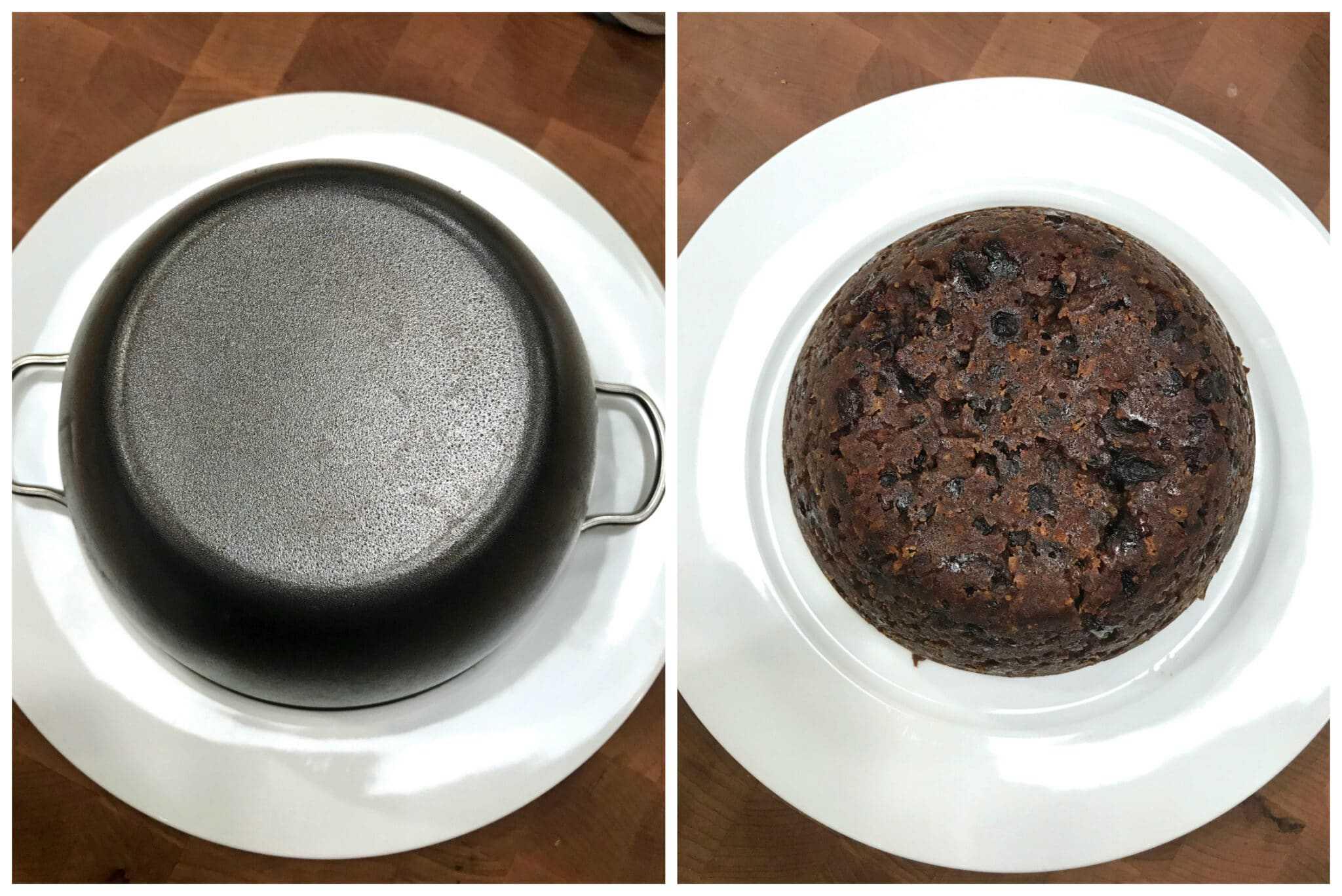invert mold onto plate