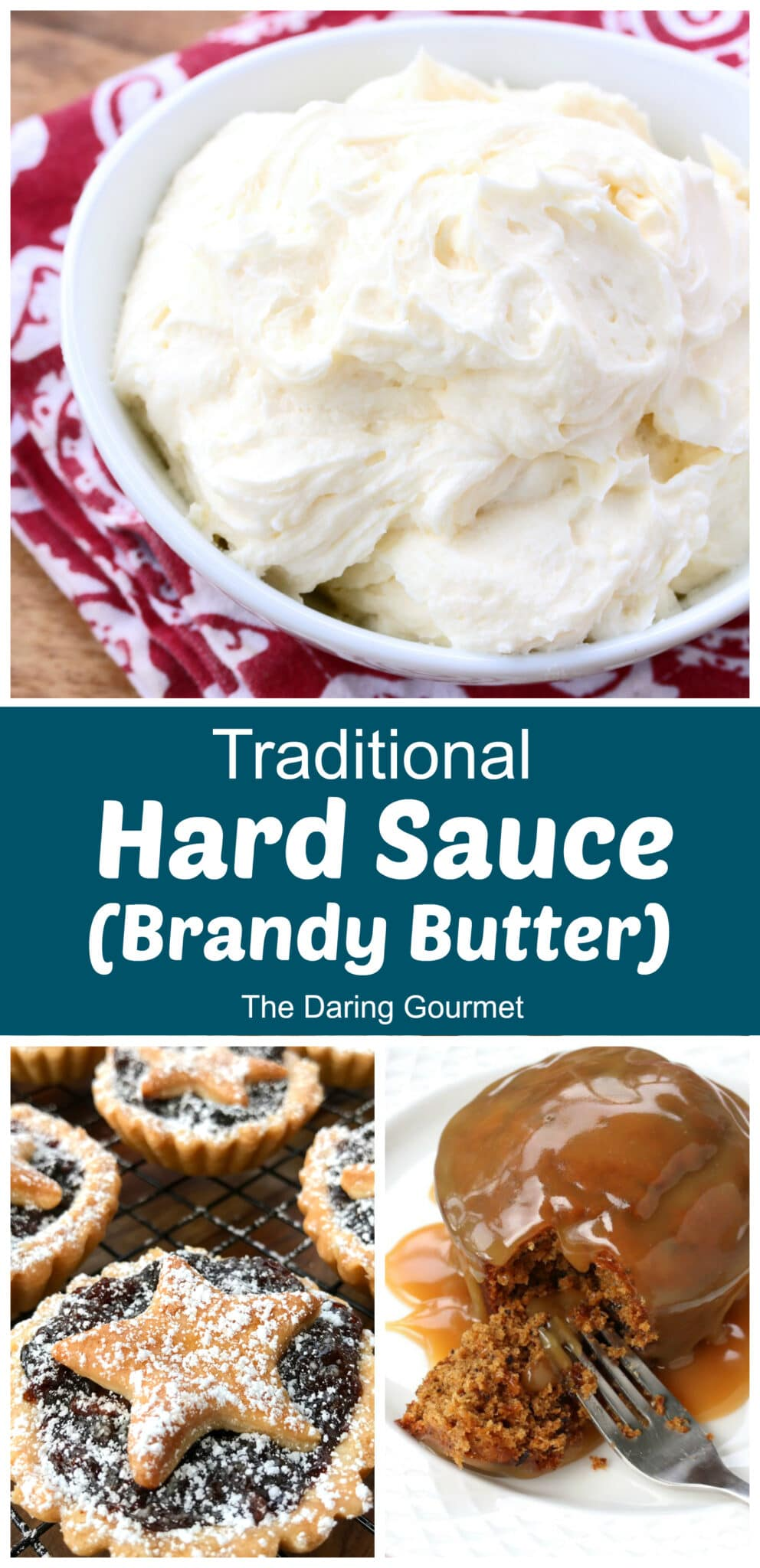 hard sauce recipe brandy butter traditional rum cognac dessert pudding mince pie