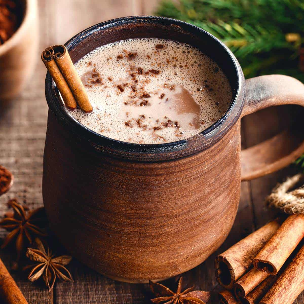 colonial hot chocolate recipe 18th century vintage old fashioned cinnamon cardamom star anise