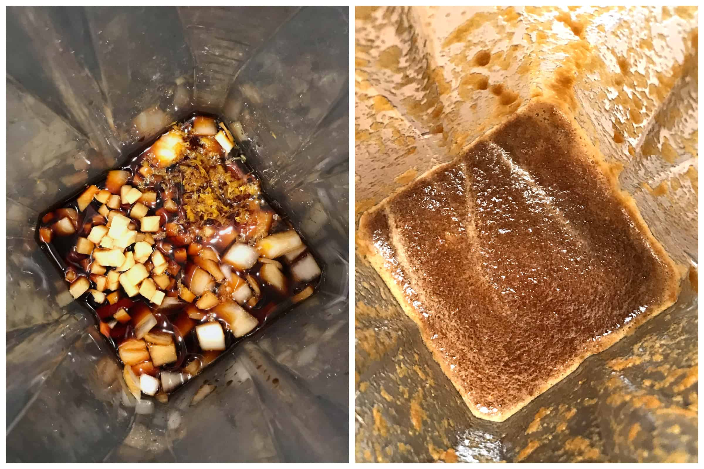 processing ingredients in blender