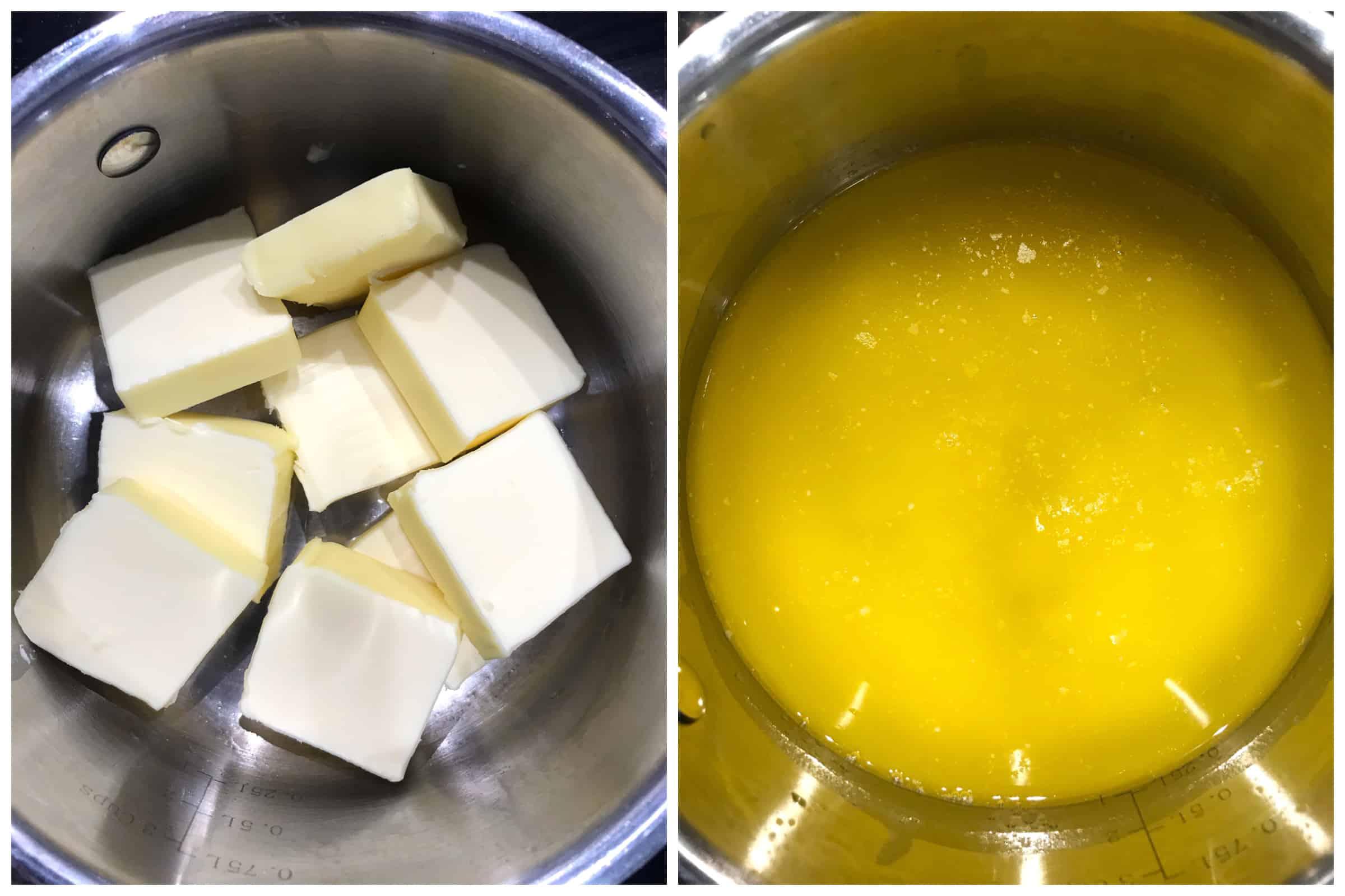 melting butter in saucepan