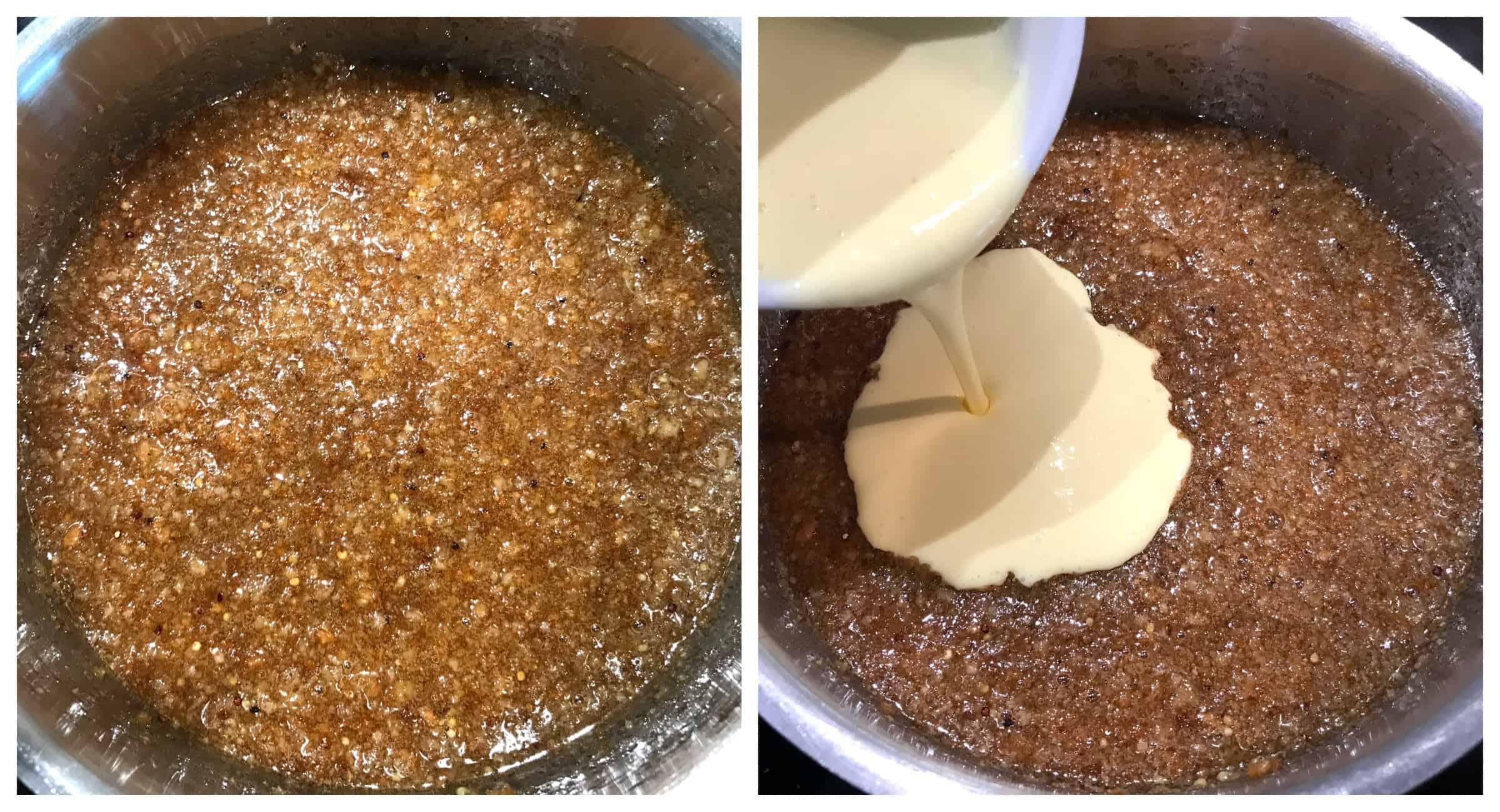 stir cream mixture into saucepan