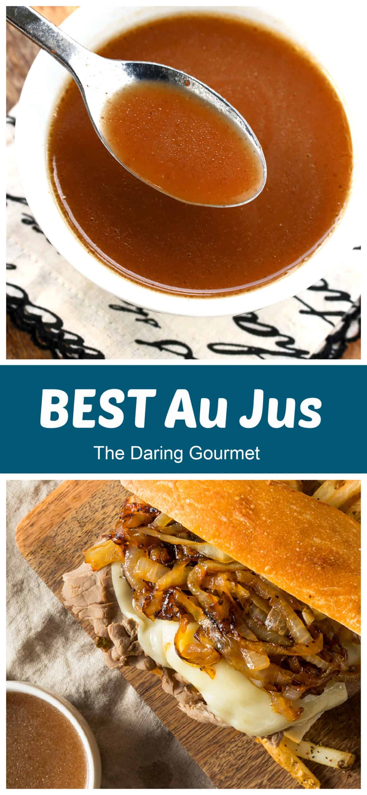 au jus recipe best homemade French dip gravy without drippings easy