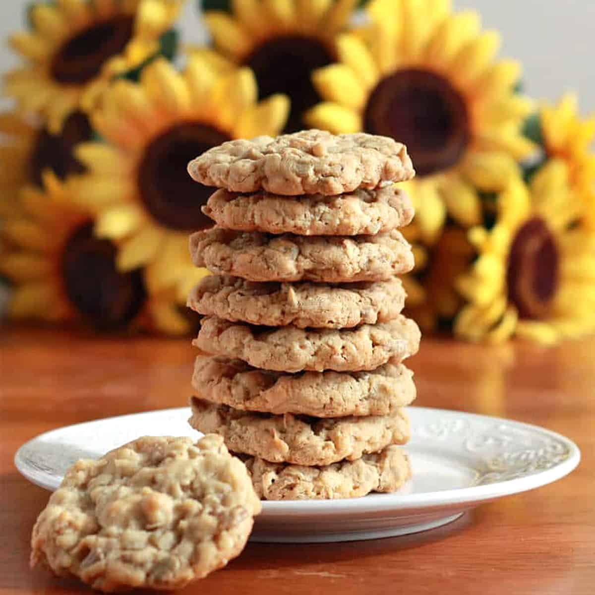 sunflower seed cookies recipe coconut rolled oats Kansas