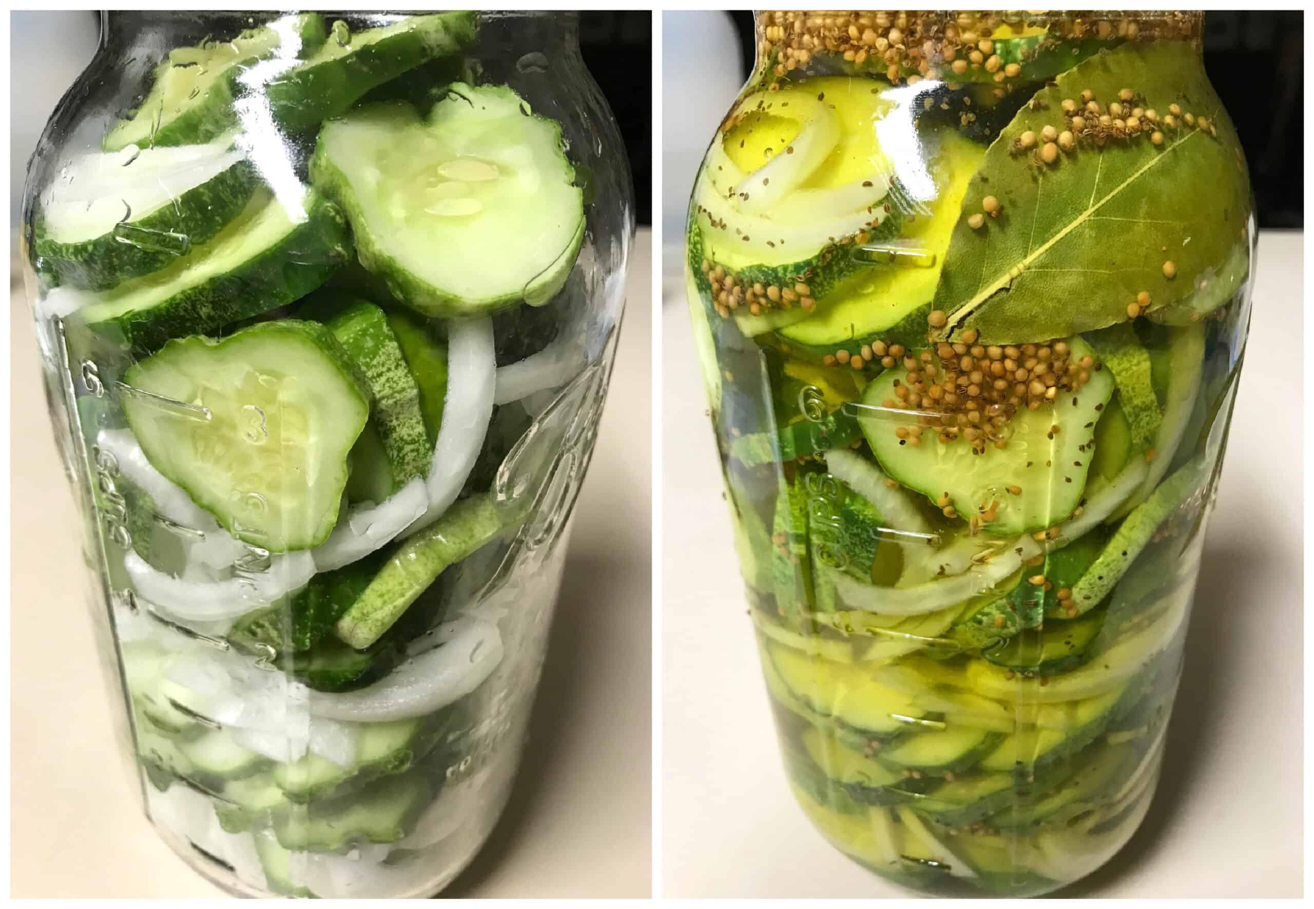 packing pickles in jars